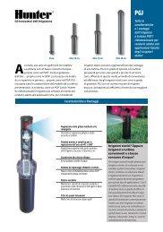 INT-207 PGJ Rotary Sprinklers Brochure - Italian - Hunter Industries