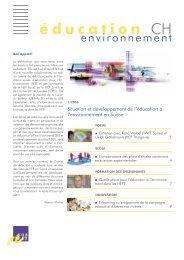 1/2006 - Education à l'environnement en Suisse