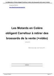 Les Motards en Colère obligent Carrefour à retirer des ... - FFMC 43