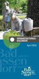 Veranstaltungskalender april 2010 - Tagungs- und ...