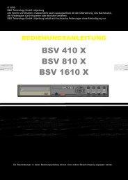 BSV 410 X BSV 810 X BSV 1610 X - BuS - Sitech - Shop