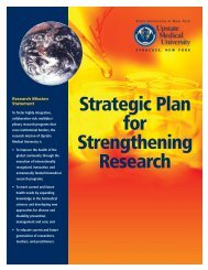 Strategic Plan for Strengthening Research - SUNY Upstate Medical ...