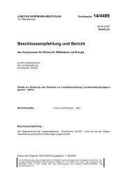 Beschlussem pfehlung und Bericht - Wolter Hoppenberg