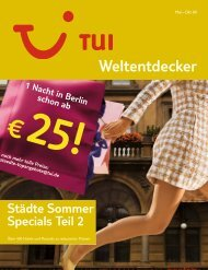 Städte Sommer Specials Teil 2 - tui.com - Onlinekatalog
