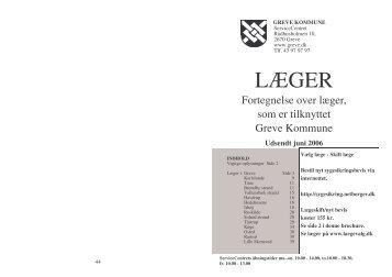 Lægefortegnelse juni 2006 - Greve Kommune