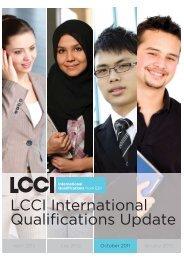 LCCI Update October 2011.indd - LCCI International Qualifications