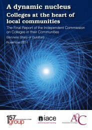 A Dynamic Nucleus: Colleges at the Heart of Local ... - Niace