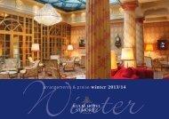 arrangements & preise winter 2013/14 - Kulm Hotel St. Moritz