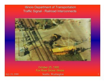 Traffic Signal-Railroad Interconnects - Traffic Signal Systems ...