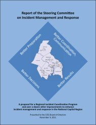 Report of the Steering Committee on Incident Management