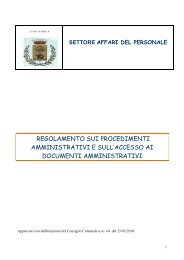 regolamento sui procedimenti amministrativi e ... - Comune di Biella
