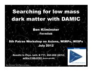 Search for dark matter with a CCD detector - 8th Patras Workshop ...