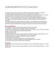 autorizzazione per attivita' di sala giochi - Comune di Scandiano