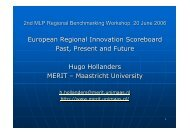 European Regional Innovation Scoreboard Past, Present ... - Urenio