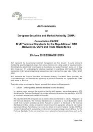 ALFI comments on European Securities and Market Authority (ESMA ...
