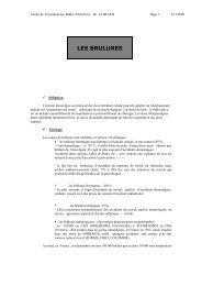 LES BRULURES - Diplôme universitaire de cicatrisation des plaies ...