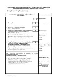 permohonan pengekalan dalam daftar pertubuhan perbadanan