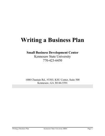 Writing a basic business plan