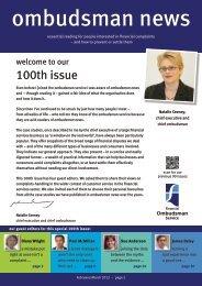 ombudsman news issue 100 - Financial Ombudsman Service