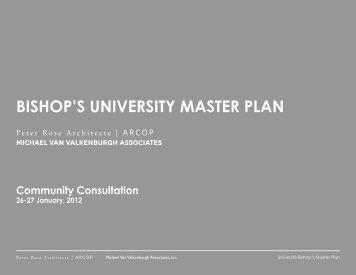 i.prelude to master planning - Bishop's University