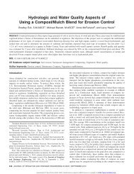 Hydrologic and Water Quality Aspects of Using a Compost/Mulch ...