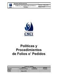 Políticas y Procedimientos de Folios o' Pedidos