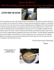 Vol. 2 Issue #6 (June) - Recipes from the Bradley Smoker Forums