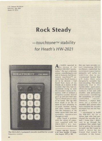 Rock Steady for Heath HW-2021 - Nostalgic Kits Central