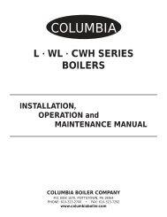 WL Series Manual - Columbia Heating