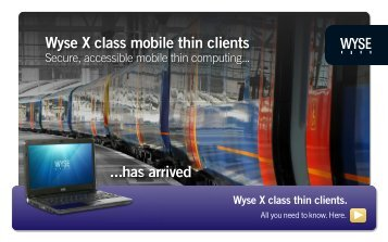 Wyse X Class Mobile Thin Client