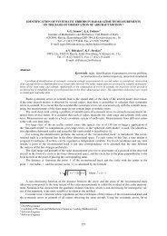 227 IDENTIFICATION OF SYSTEMATIC ERRORS IN RADAR ...