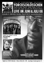 LIVE IM JUNI & JULI 08 - Yorckschlösschen