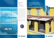 Sun protection drives for shades with locking system - Becker-Antriebe