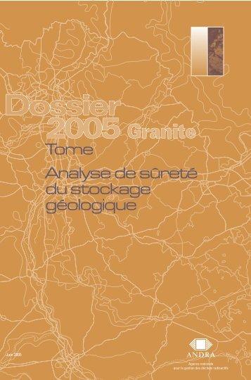 Tome Analyse de sûreté du stockage géologique (PDF ... - Andra