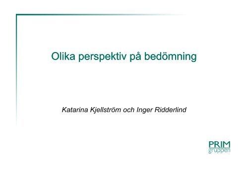Olika perspektiv på bedömning - Pedagog Stockholm