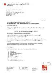 Regionalrat im Regierungsbezirk Köln SPD-Fraktion