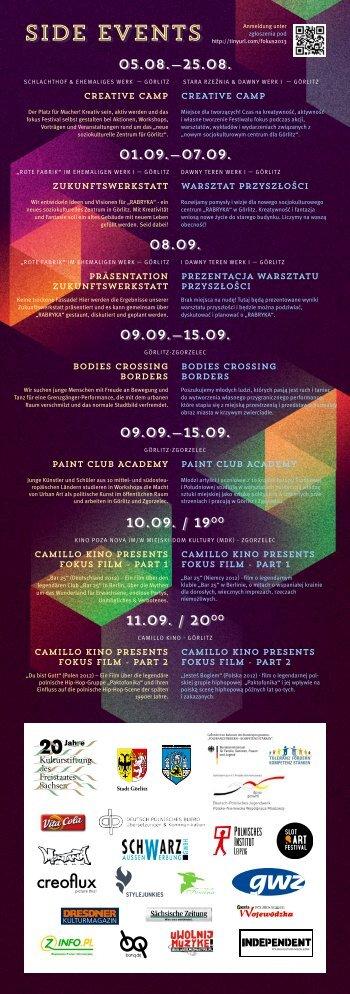 naszej ulotce… - fokus Festival 2013