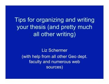 Tips for organizing and writing your thesis (and pretty ... - Geology