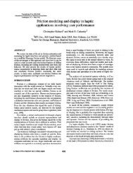 Friction modeling and display in haptic applications involving - Colgate