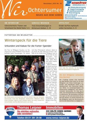 Ausgabe 11/2013 - Wir Ochtersumer