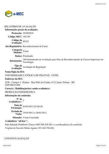 2012 - Universidade Católica de Pelotas