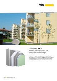 Fasadsystem StoTherm Vario - Sto Scandinavia AB