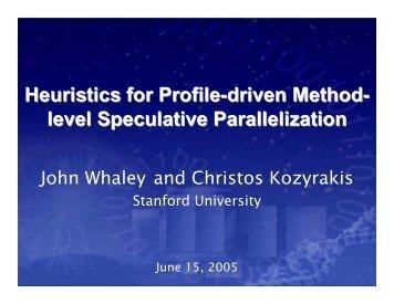 slides - Computer Systems Laboratory - Stanford University