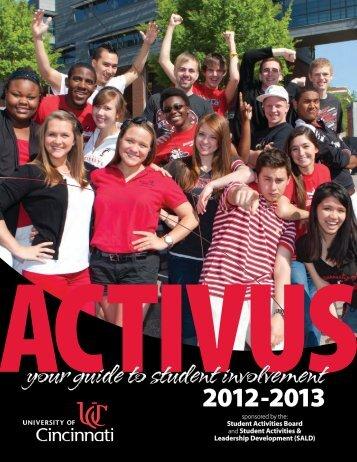 ACTIVUS: Your Guide to Student Involvement - University of Cincinnati