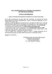 Lettera Invito - Polo Universitario della Provincia di Agrigento