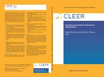 Principles and practices of EU external representation - Asser Institute