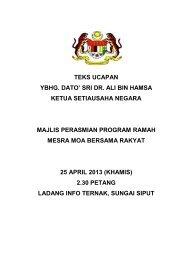 Majlis Perasmian Program Ramah Mesra MOA Bersama Rakyat Sg ...