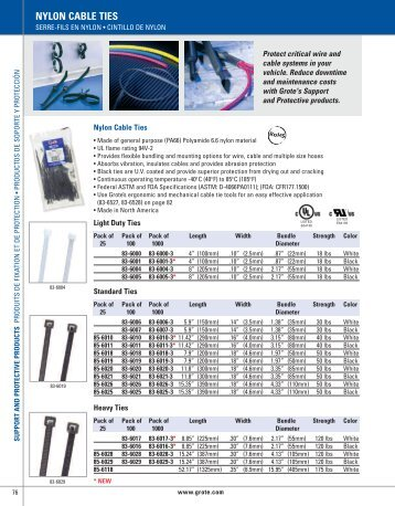 NYLON CABLE TIES - Grote Industries