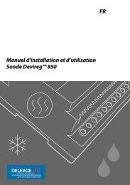 Manuel d'installation et d'utilisation Sonde Devireg™ 850 FR