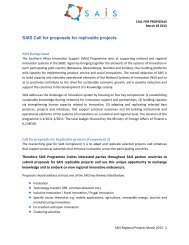SAIS Call for proposals for replicable projects - WordPress – www ...
